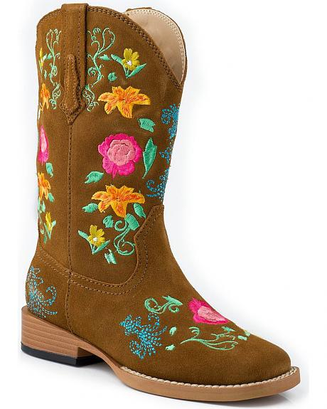 Roper Children's Floral Embroidered Cowgirl Boots