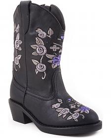 Roper Infant Girls' Floral Embroidered Cowgirl Boots