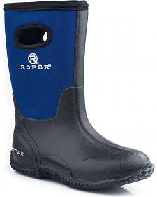 Roper Boys' Blue Neoprene Boots
