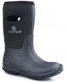 Roper Boys' Black Neoprene Boots