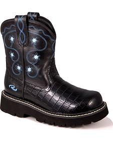 Roper Children's Chunk Croc Print Cowgirl Boots
