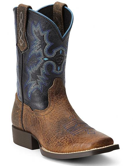 Ariat Boys' Tombstone Cowboy Boots - Square Toe