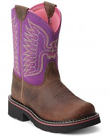 Ariat Youth Girls' Fatbaby Thunderbird Cowgirl Boots - Round Toe