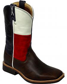 Twisted X Youth Texas Flag Cowkid Work Boots - Square Toe
