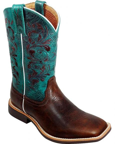 Twisted X Children's Top Hand Turquoise Cowgirl Boots - Square Toe