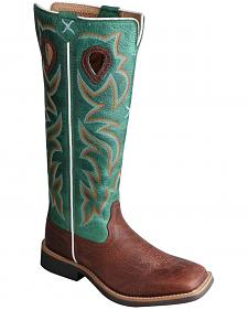 Twisted X Youth Boys' Turquoise Buckaroo Cowboy Boots - Square Toe