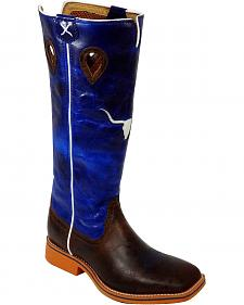 Twisted X Youth Boys' Blue Buckaroo Cowboy Boots - Square Toe