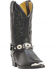 Laredo Youth Boys' Little Concho Cowboy Boots - Round Toe