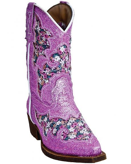 Laredo Girls' Glitterachi Cowgirl Boots - Snip Toe