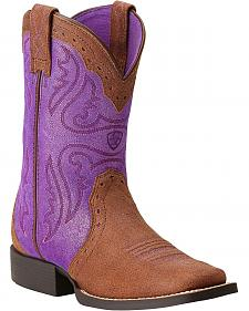 Ariat Youth Trailblazer Cowgirl Boots - Square Toe