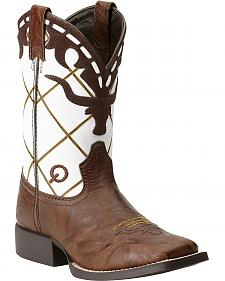 Ariat Boys' Dakota Dogger Cowboy Boots - Square Toe