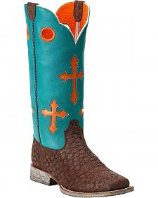 Ariat Youth Girls' Ranchero Cross Cowboy Boots - Square Toe