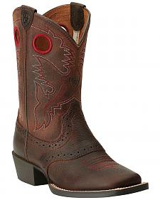 Ariat Boys' Rough Stock Cowboy Boots - Square Toe