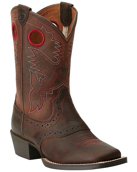 Ariat Youth Boys' Rough Stock Cowboy Boots - Square Toe