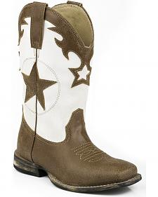 Roper Boys' Star Cowboy Boots - Square Toe