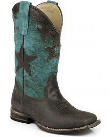 Roper Boys' Star Cowboy Boots - Square Toe