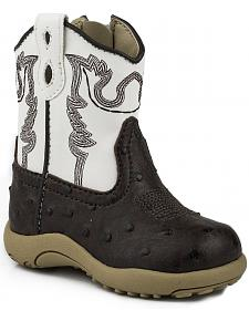 Roper Infant Boys' Ostrich Print Cowboy Boots - Round Toe