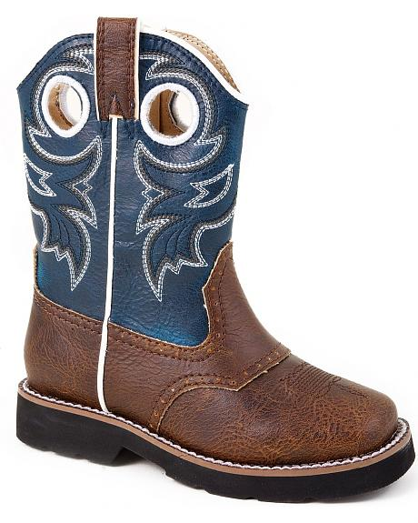 Roper Toddler Boys' Saddle Vamp Cowboy Boots - Square Toe