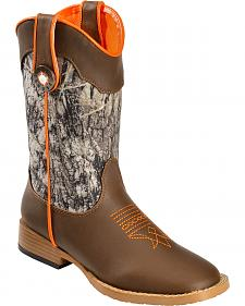 Double Barrel Boys' Buckshot Cowboy Boots - Square Toe