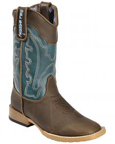 Double Barrel Boys' Open Range Cowboy Boots - Square Toe