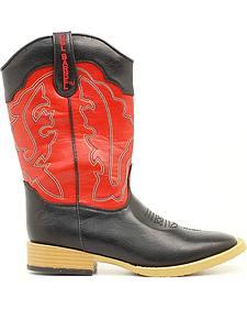 Double Barrel Boys' Trailboss Cowboy Boots - Square Toe