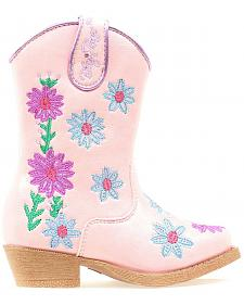 Blazin Roxx Toddler Girls' Daisy Floral Embroidered Cowgirl Boots - Snip Toe
