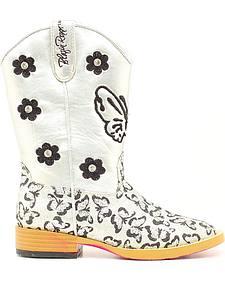 Blazin Roxx Youth Girls' Pecos Glitter Cowgirl Boots - Square Toe