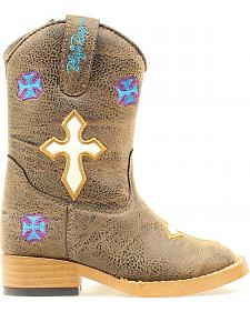 Blazin Roxx Toddler Girls' Sierra Zipper Cowgirl Boots - Square Toe