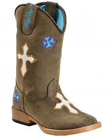 Blazin Roxx Youth Sierra Cowgirl Boots - Square Toe