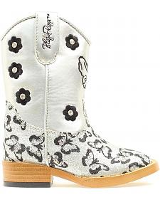 Blazin Roxx Toddler Girls' Pecos Glitter Zipper Cowgirl Boots - Square Toe