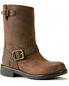 Frye Boys' Brown Engineer Pull-On Boots