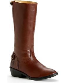 Frye Girls' Melissa Button Back Zipper Boots