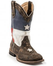 Roper Kids' Texas Flag Cowboy Boots - Square Toe