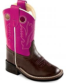 Old West Toddler Girls' Purple Western Cowboy Boots - Square Toe