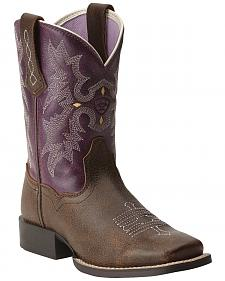 Ariat Girls' Tombstone Boots - Square Toe