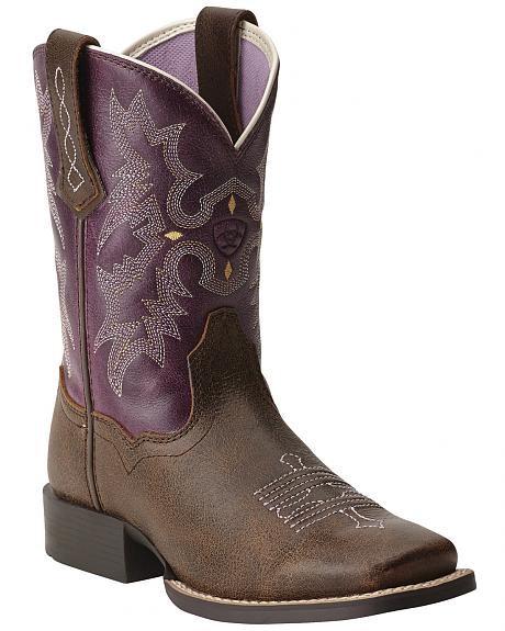 Ariat Youth Girls' Tombstone Boots - Square Toe