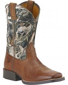 Ariat Boys' Quickdraw Camo Boots - Square Toe