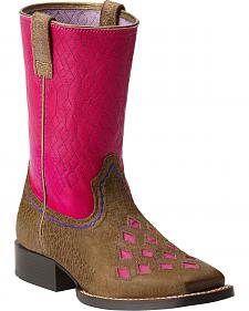 Ariat Go Getter Girls' Quilted Boots - Square Toe