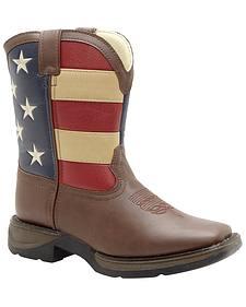 Durango Boys' American Flag Western Boots