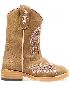 Blazzin Rocks Girls' Gracie Wing Cross Zip Boot