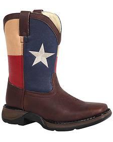 Durango Boys' Texas Flag Western Boots - Square toe