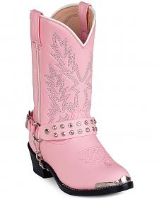 Durango Girls' Pink Cowgirl Boots