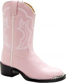 Durango Toddler Girls' Dusty Pink & Chrome Western Boots - Round Toe