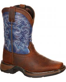 Durango Toddler Boys' Navy Blue Western Boots - Square Toe