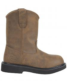 Georgia Youth Boys' Pull-On Work Boots - Round Toe