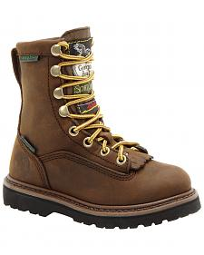 Georgia Boys' Insulated Outdoor Waterproof Lace-Up Boots