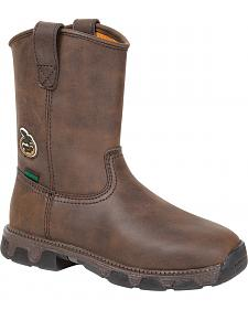 Georgia Youth Boys' Suspension System Pull-On Boots