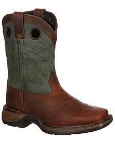 Durango Youth Saddle Western Boot - Square Toe