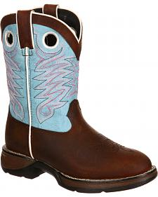 Lil' Durango Youth Girls' Raindrop Western Boots - Round Toe
