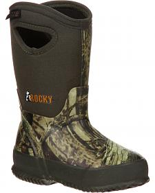 Rocky Core Youth Boys' Rubber Waterproof Insulated Pull-On Boots